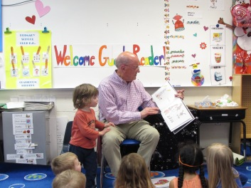 Grandpa reading at The Langley School